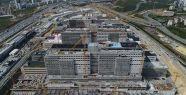 Başakşehir Şehir Hastanesi'nin inşaat...