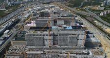 Başakşehir Şehir Hastanesi'nin inşaat çalışmaları görüntülendi