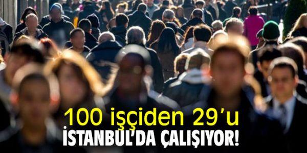 100 İşçiden 29'U İstanbul'da, Yüzde 22'Si Kayıt Dışı