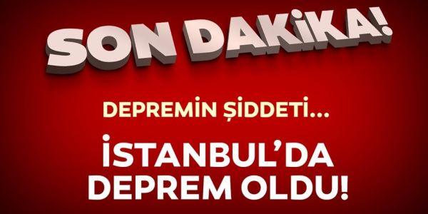 İstanbul ' da Korkutan Deprem