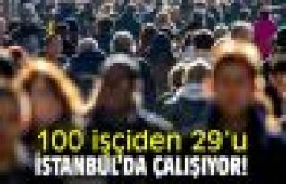 100 İşçiden 29'U İstanbul'da, Yüzde 22'Si...