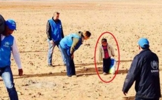 Dört yaşındaki Marwan Suriye sınırını böyle geçti